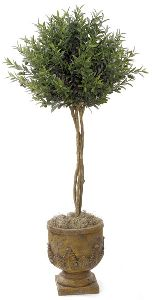 Artificial Topiary Trees, Ball Topiary, 4 and 5 feet   Olive Ball Tree